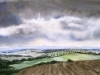 Rain clouds Val D'orcia