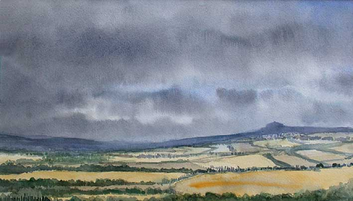 Val D'Orcia in the rain