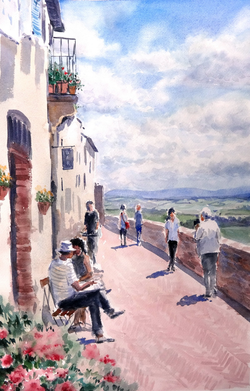 Pienza on the wall