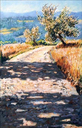 Strada Bianca with olive trees-SOLD