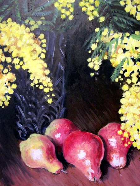 Mimosa and Pears